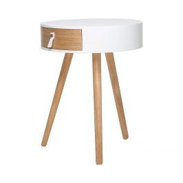 Odkládací stolek CARPI bílý/borovice