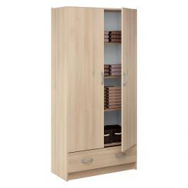 Skříň policová 2 dveře + 1 zásuvka BEST dub