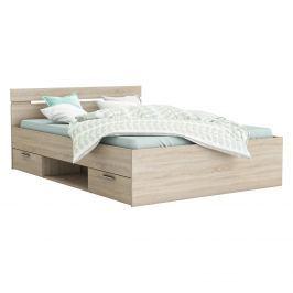 Multifunkční postel 140x200 MICHIGAN dub