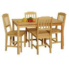 Stůl + 4 židle 8849 lak