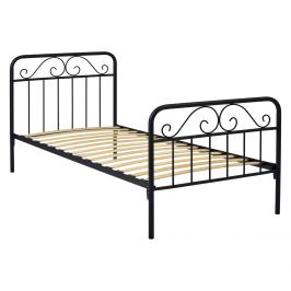 Kovová postel LEON 120x200 černá