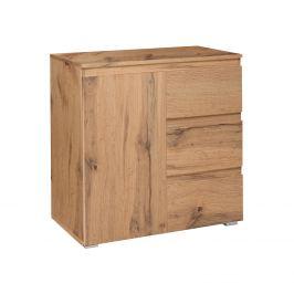 Komoda 1 dveře + 3 zásuvky IMAGE 2 zlatý dub