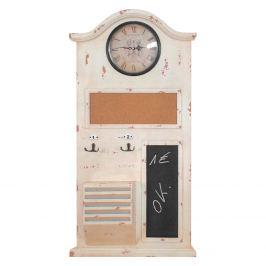 Memo tabule s hodinami bílá antik