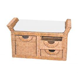 Stolička 3 zásuvky béžová