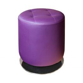 Stolička kulatá fialová