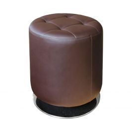 Stolička kulatá hnědá