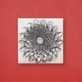 Slunečnice dekorace stříbrná