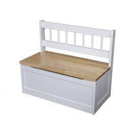 Dětská lavice bílá/lak
