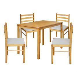 Stůl + 4 židle FARO lak javor