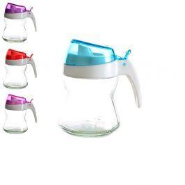 Mlékovka skleněná s plastovým víkem