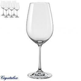 Crystalex sklenice na víno červené Viola 450 ml 6ks