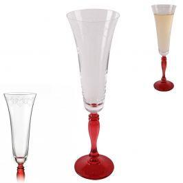 Crystalex Sklenice Crystal na šumivé víno Victoria dekorace 2LOVE 180ml 2ks