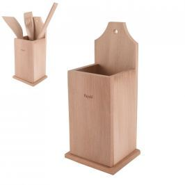 Stojan dřevěný na kuchyňské náčiní