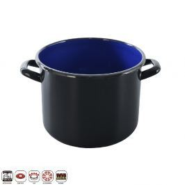 Hrnec smaltovaný černý 1,2 L