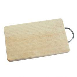 Prkénko dřevěné s kovovou rukojetí 33 x 22,5 cm