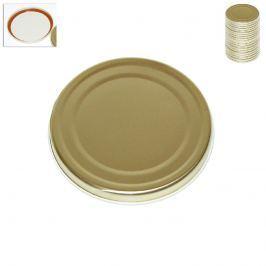 Víčko kovové zavažovací zlaté 20 ks