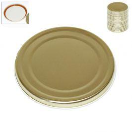 Víčko kovové zavařovací zlaté 20 ks
