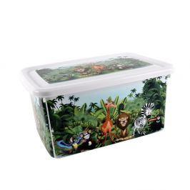 VCAS Box úložný 26,5x19x12,5 cm s víkem Džungle plast 491579