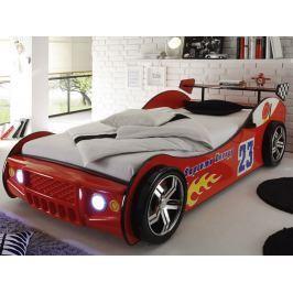 Energy 90x200 cm, červená závodnička s osvětlením