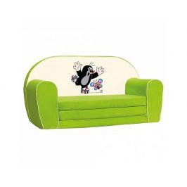 Mini pohovka Krteček, zelená