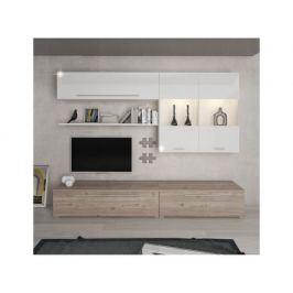 Obývací stěna Enoteca, dub nelson / bílá