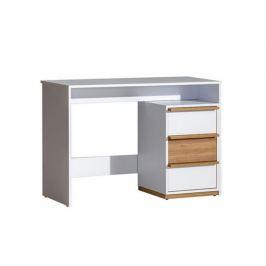 Počítačový stůl Aulario, ořech select / bílá