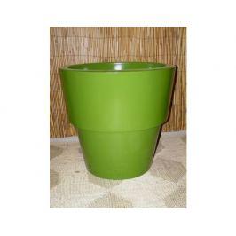 Sklolaminátový květináč s lemem - zelený