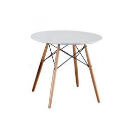 Jídelní stůl Statuine 80, bílá / buk