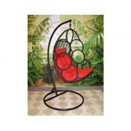 Závěsné relaxační křeslo SEWA - červený sedák