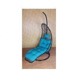 Závěsné relaxační křeslo NORA - modrý sedák