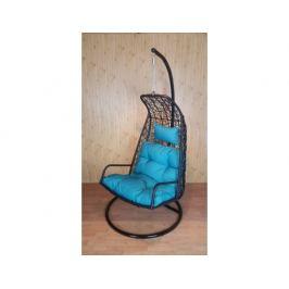 Závěsné relaxační křeslo LAZY - modrý sedák