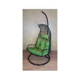 Závěsné relaxační křeslo LAZY - zelený sedák