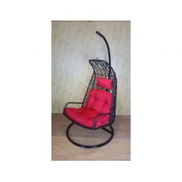 Závěsné relaxační křeslo LAZY - červený sedák