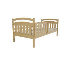 Dětská postel DP 001 bezbarvý lak, 90x200 cm