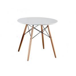 Jídelní stůl GAMIN 90, dřevo, MDF bílá