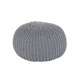 Taburet TAMAN TYP 2, bavlna šedá