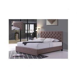 Manželská postel CLOVER, hnědá, 160x200 cm