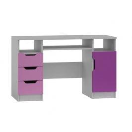 Psací stůl FIA ABS 7, bílá/fialová