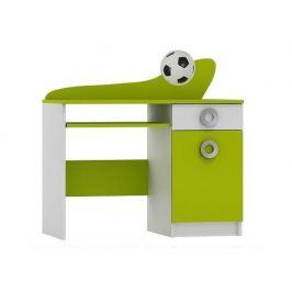 Psací stůl FOTBAL ABS B10 bílá/limetka