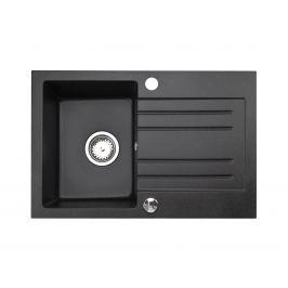 Granitový dřez ALKOR AA, černá
