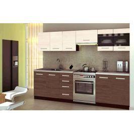 Kuchyně AMANDA 2, 200/260 cm, ořech viva/priede arden