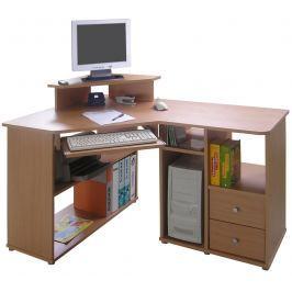 Rohový PC stůl THEODOR, buk