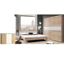 GOULDSTAR ložnice, dub sonoma/bílá