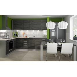 Rohová kuchyně SILVER+ 200x240 cm, korpus grey, black pine