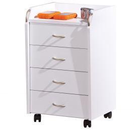 Kontejner 4 zásuvky Pronti, bílý