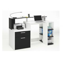 ORAKLE, psací stůl, bílá/černá