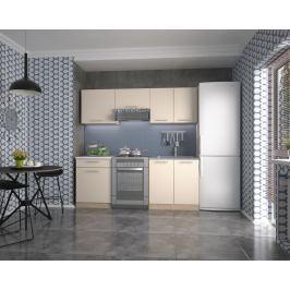 Kuchyně MARIJIA 140/200 cm, korpus: dub sonoma, dveře: vanilka