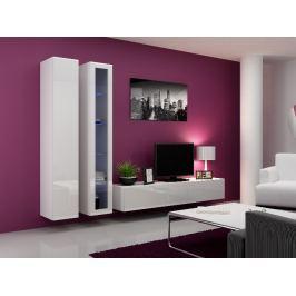 Obývací stěna VIGO 3, bílá/bílý lesk