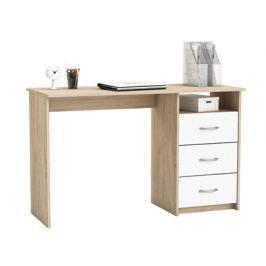 ERISTOTE, psací stůl, dub sonoma/bílá