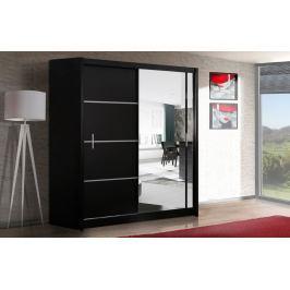 Šatní skříň s posuvnými dveřmi VISTA 203, černá